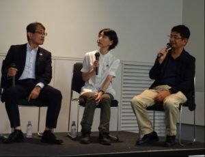 左から水出氏、藤崎氏、水野氏