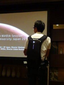 HP Z VR Backpack。日本HPのブースでは、VIVEを使用したデモも行なわれていた。