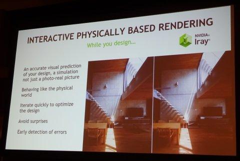 左が写真、右がIrayによるレンダリング画像。